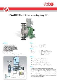 Iwaki LK Series metering pumps