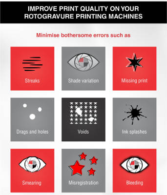 Improve print quality on your rotogravure printing machines