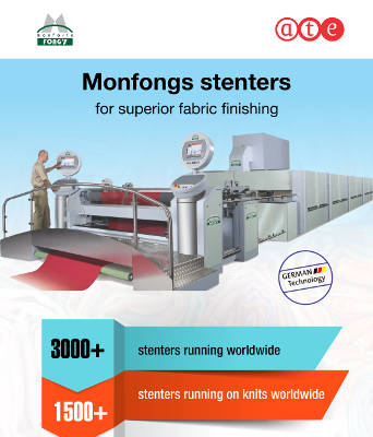Monfongs stenters for superior fabric finishing