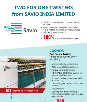 Two for one twisters from Savio India Limited