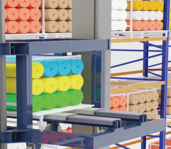 Automatic Storage and Retrieval System with Telescopic Fork