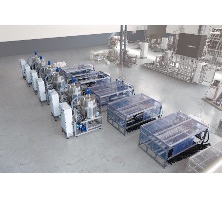 Dye, chemical weighing, dissolution, and distribution systems