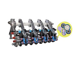 Four roller compact spinning system