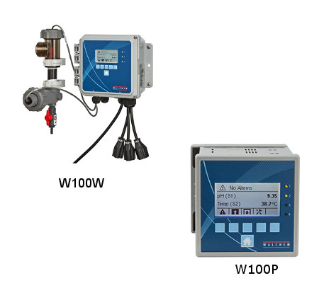 Water treatment system control: W100W, W100P