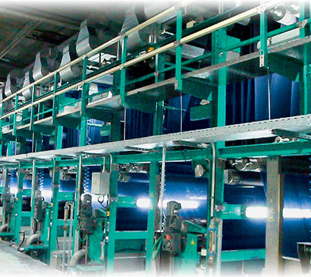 Indigo dyeing machines
